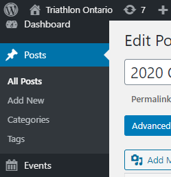 Adding a new post